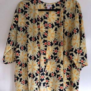 EUC LulaRoe Lindsay Kimono M Aztec Print